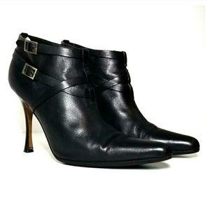 Manolo Blahnik LeatherBooties Boots Heels